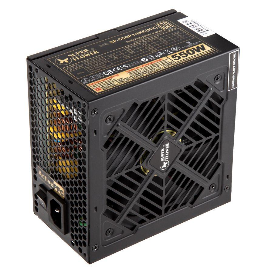 "SUPER FLOWER GOLDEN GREEN HX 550W ""80 PLUS GOLD"" POWER SUPPLY - BLACK SF-550P14XE (HX)"
