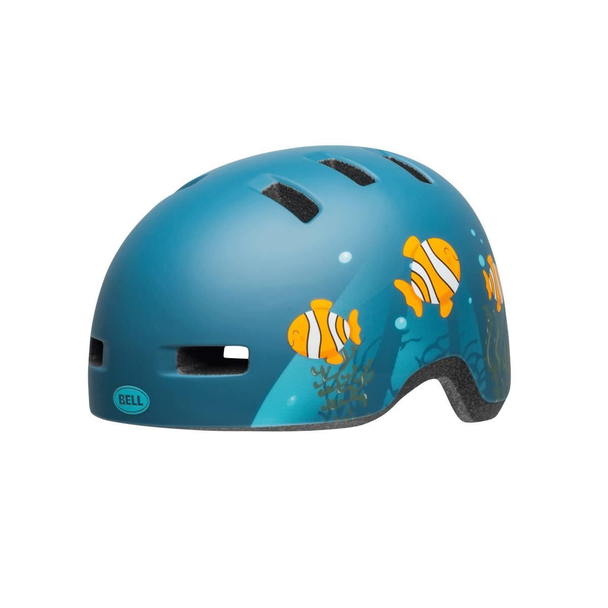 Bell Lil Ripper Toddler Helmet 2019: Clown Fish Matte Grey-Blue Unisize 45-51Cm