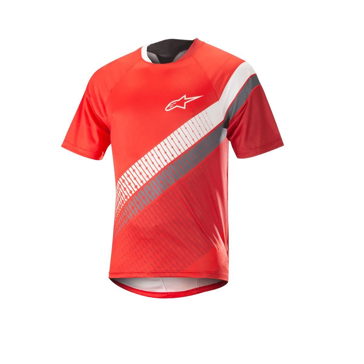 Alpinestars Predator Short Sleeve Jersey 2018: Red Cherry/White M