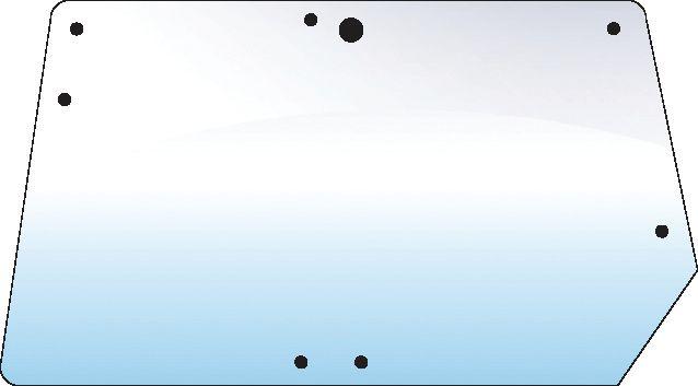 JOHN DEERE REAR UPPER GLASS 6 HOLES 102001