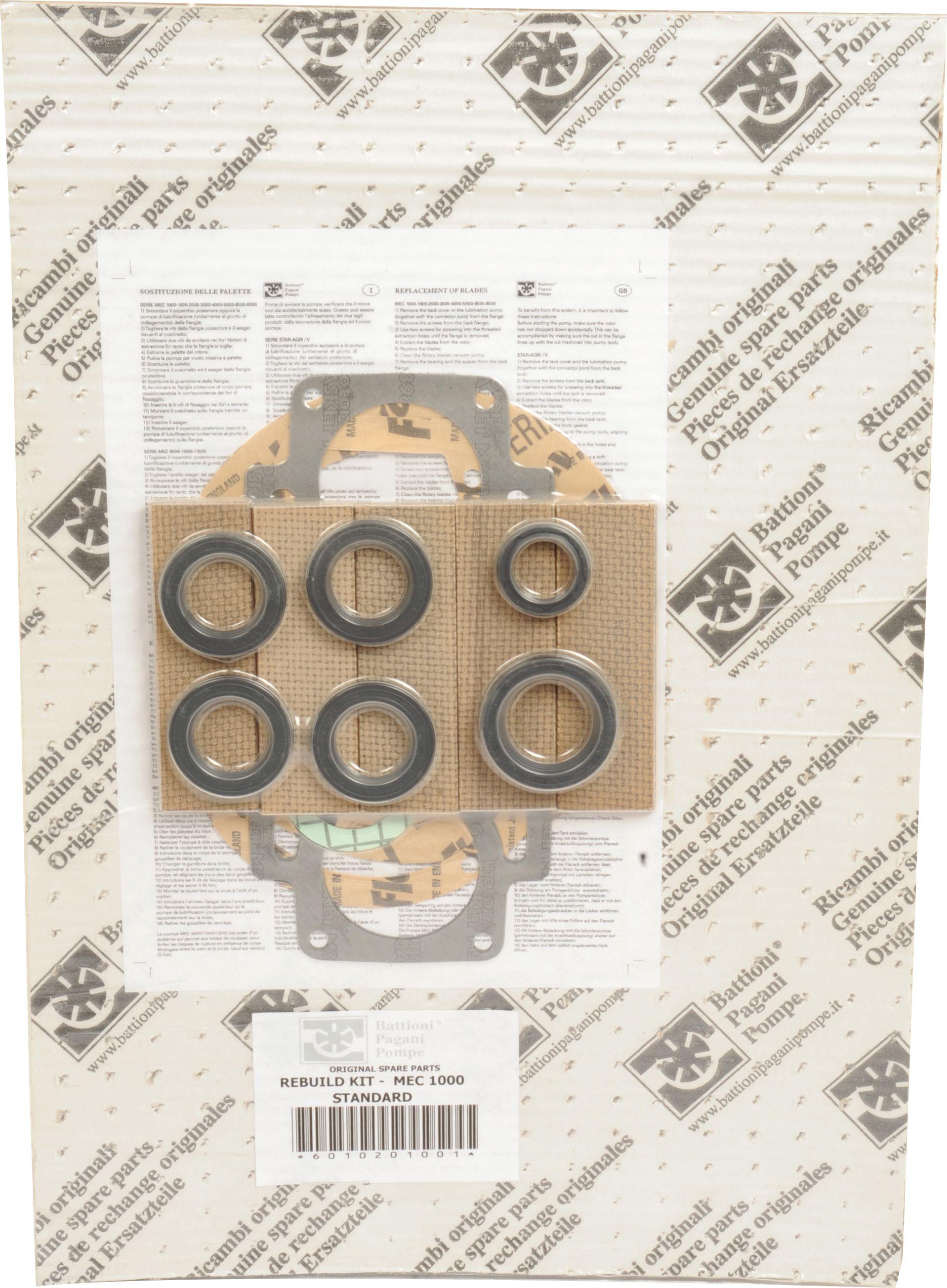 BATTIONI PAGANI POMP REBUILD KIT-MEC 1000 STD 101952