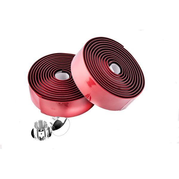 M Part Primo anti-slip bar tape with shock-absorbent silicone gel, red