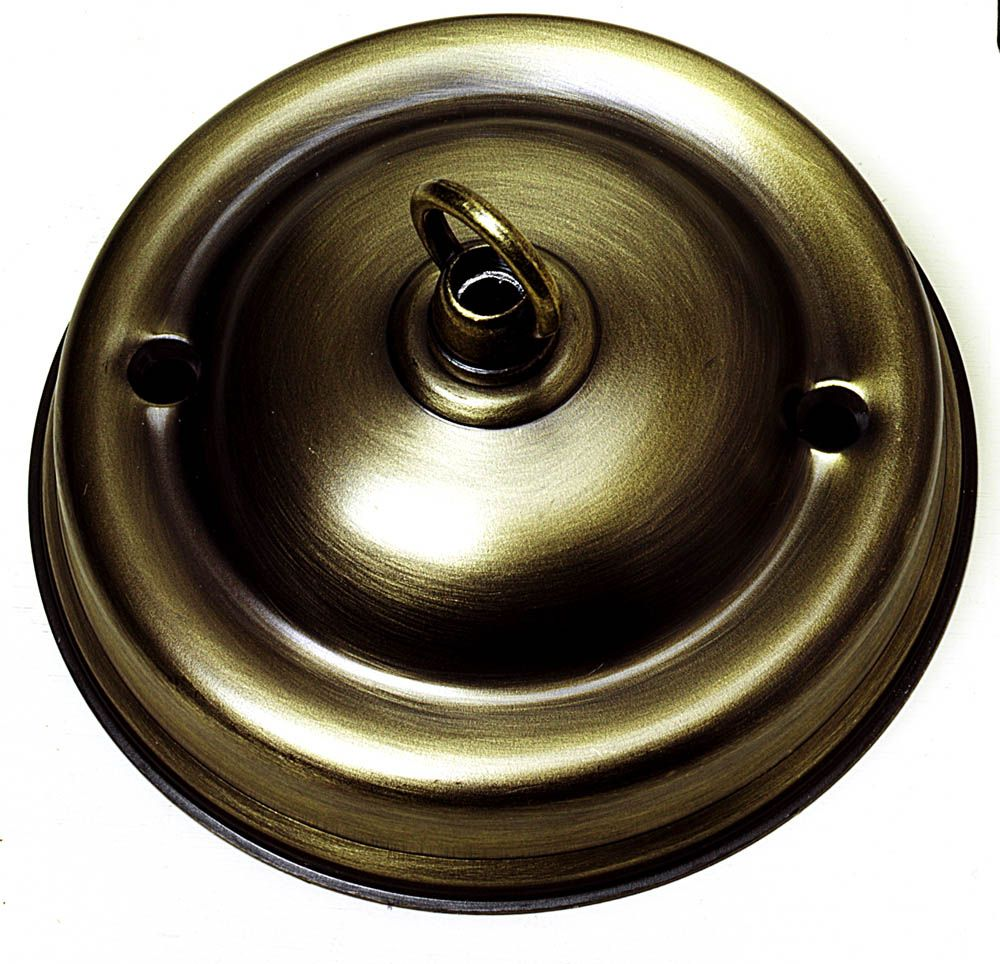 Ceiling Hook-plate Large Antique Brass 4.25 inch