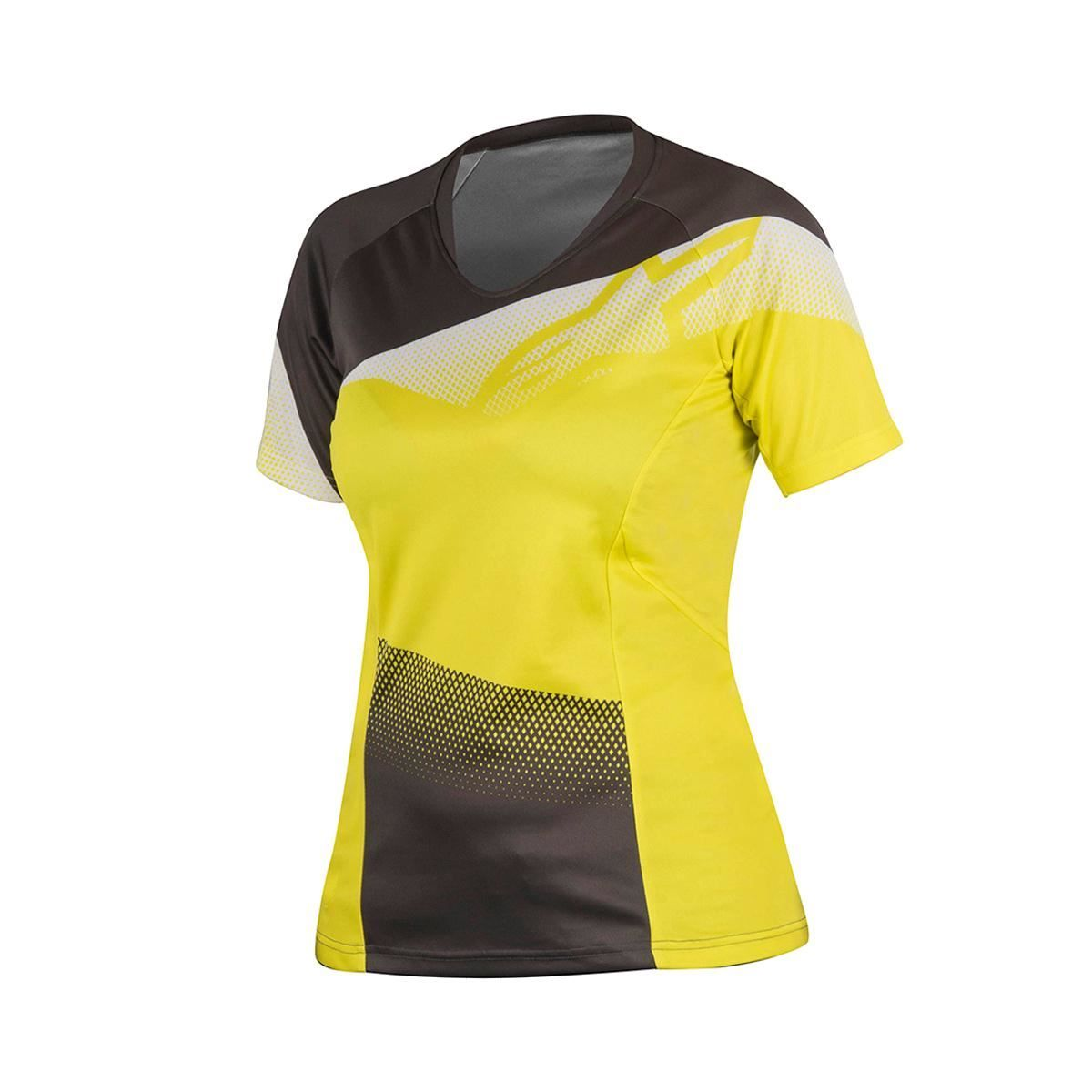 Alpinestars Stella Mesa Short Sleeve Jersey 2017: Acid Yellow/Dark Shadow S
