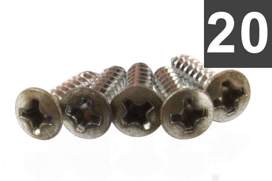 PICK GUARD SCREWS (20 PIECES) PHILLIPS HEAD