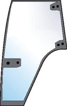 STEYR GLASS-DOOR-LH-6 HOLES 100579