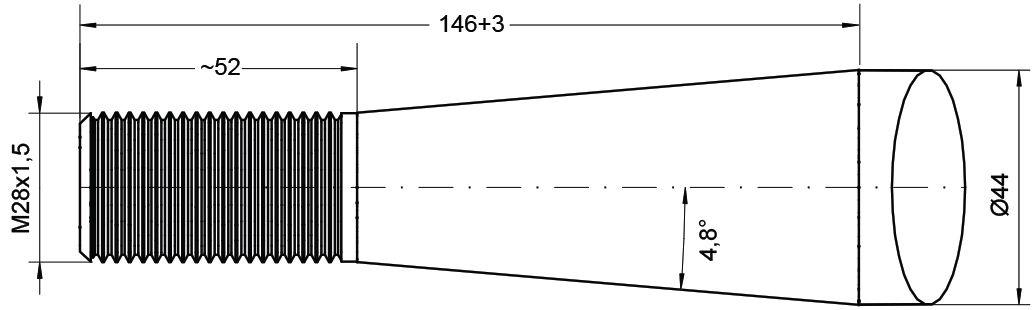 PARMITER TINE-STRAIGHT M28 CONUS2 980MM 77017