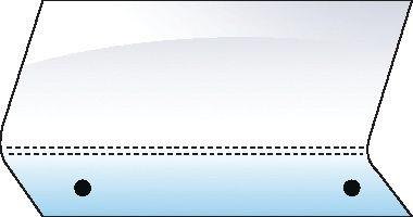 DEUTZ-FAHR PERSPEX-REAR-LOWER-2 HOLES