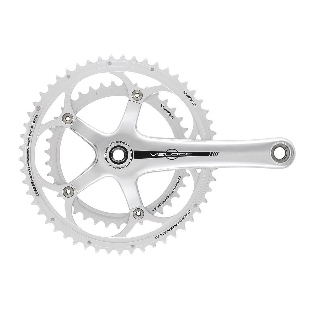 CAMPAGNOLO VELOCE 10X P-T ALLOY SILVER 170MM 39/53T CPBS760