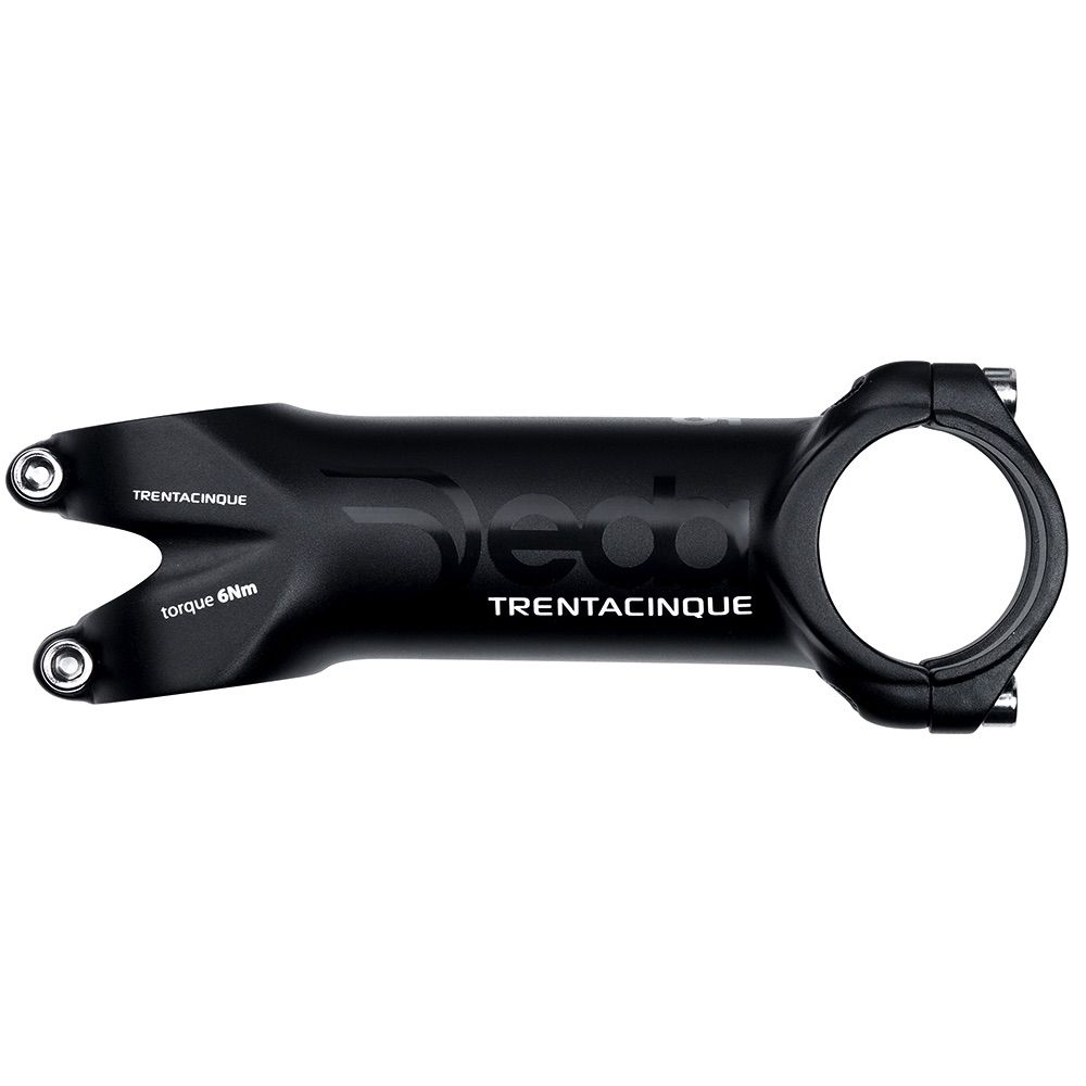 DEDA ELEMENTI TRENTACINQUE 35 POLISHED ON BLK 130MM OEM
