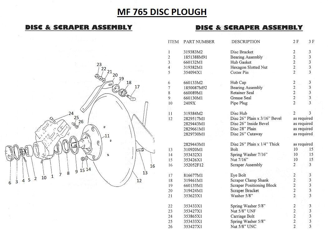 Massey Ferguson SCRAPER ASSY Part No:352 052 M1
