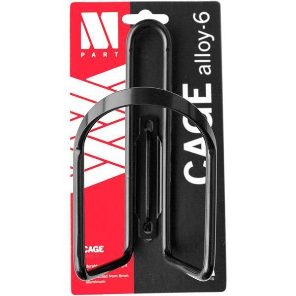 M Part Bottle cage Alloy - 6 mm aluminium - black