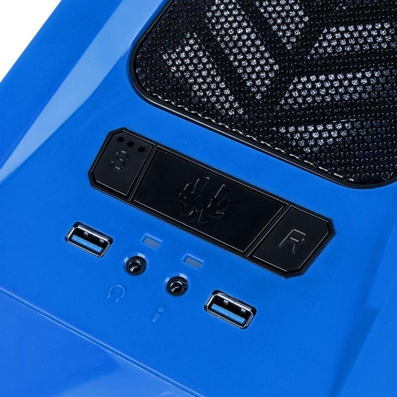 BITFENIX AEGIS CORE MICRO-ATX CHASSIS - BLUE BFC-AEG-300-BKWN1-RP