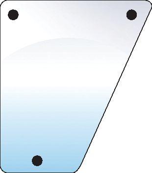 JOHN DEERE GLASS-FRONT-LOWER