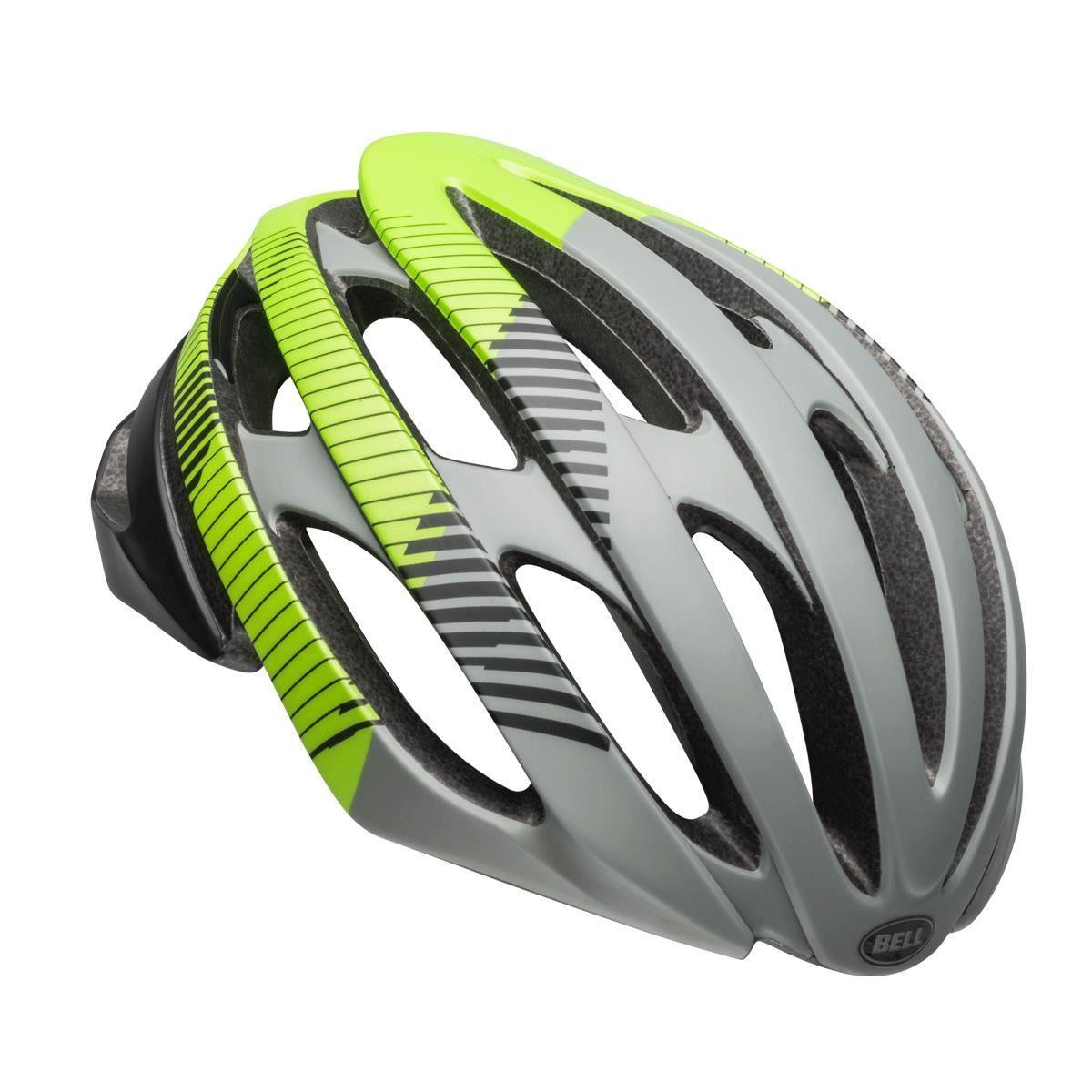 Bell Stratus Road Helmet 2019: Bluster Matte Grey/Black/Green M 55-59Cm