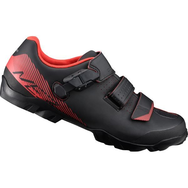 Shimano ME300 SPD MTB shoes, black / orange, size 46 wide