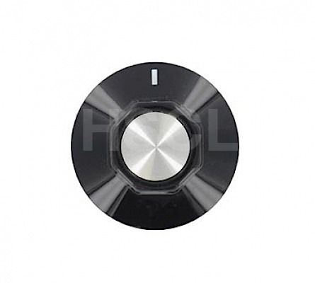 Knob: Cooker: 6mm Black: Ego 524.808 86116