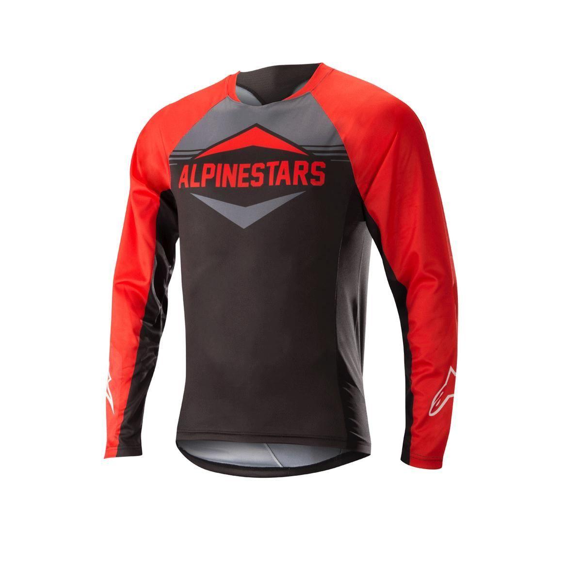 Alpinestars Mesa Long Sleeve Jersey 2018: Red/Steel Grey M