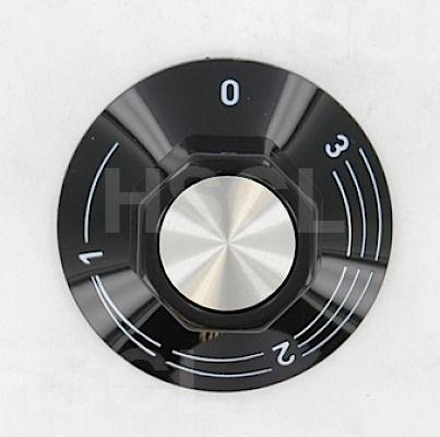 Control Knob: Black: 41mm: Ego 524.010