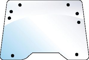 FORD NEW HOLLAND GLASS-WINDSCREEN 100506