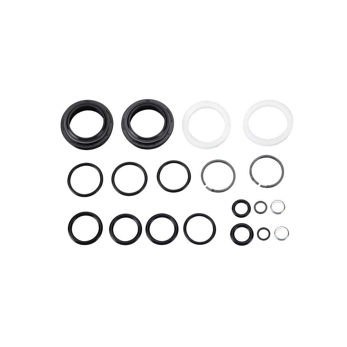Rockshox Service - 200 Hour/1 Year Service Kit (Includes Dust Seals, Foam Rings, O-Ring Seals) - Reba A7 120Mm (Standard) (2018+): Black