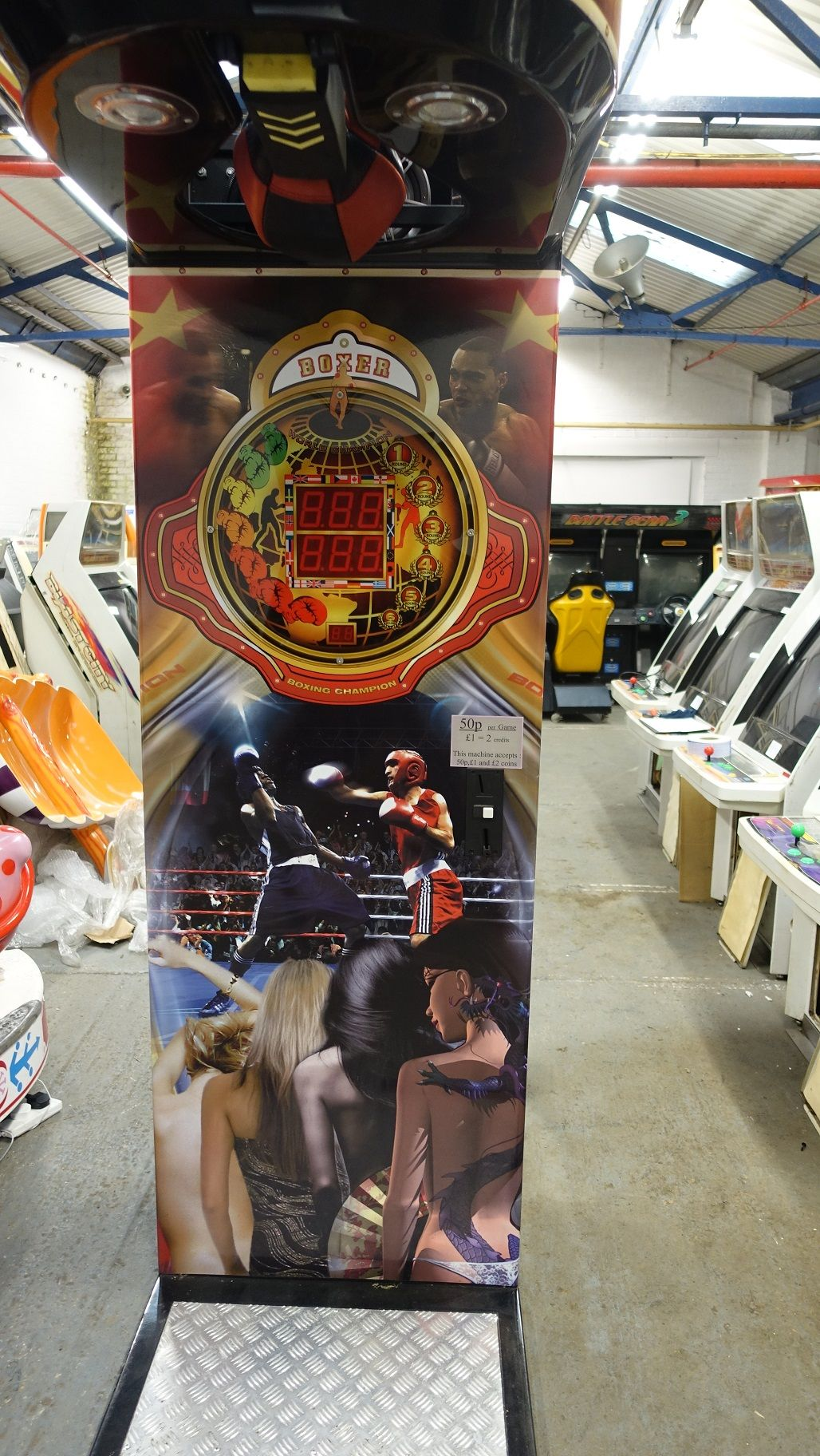 BOXER DELUXE CLASSIC ARCADE BOXER BOXING MACHINE ,MISSING MAIN MOTHERBOARD BOXERDELUXEMISSINGMAINMOTHERBOARD