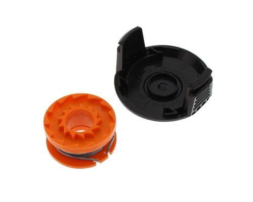 Spool & Line & Spool Cover: Qualcast Titan Worx QT486