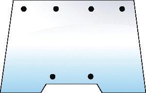 SAME GLASS-WINDSCREEN-6 HOLES