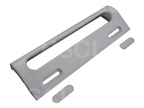 White Fridge Door Handle: Universal 4132