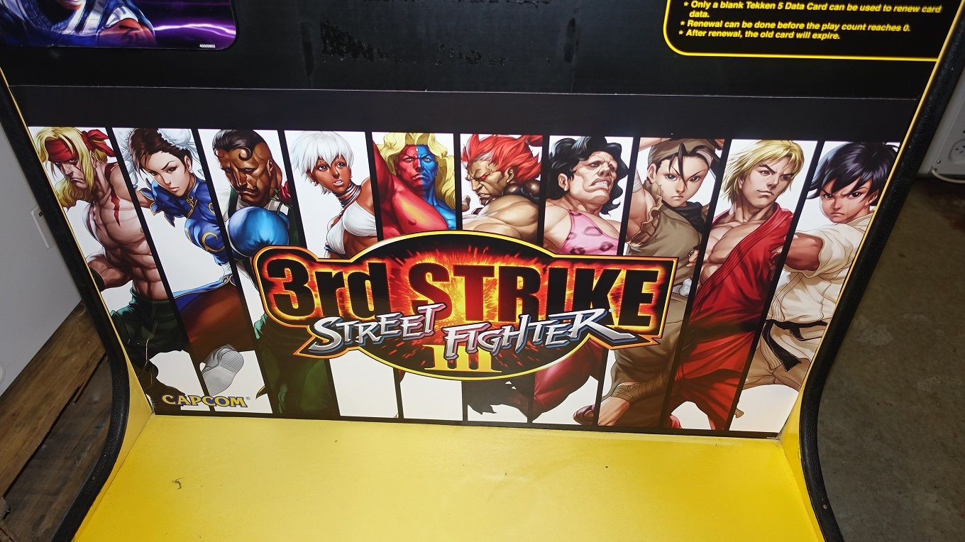 CAPCOM ST.FIGHTER 3rd STRIKE ARCADE MACHINE 32in CRT SCREEN WORKING CAPCOMSTFIGHTER3RDSTRIKEARCAD