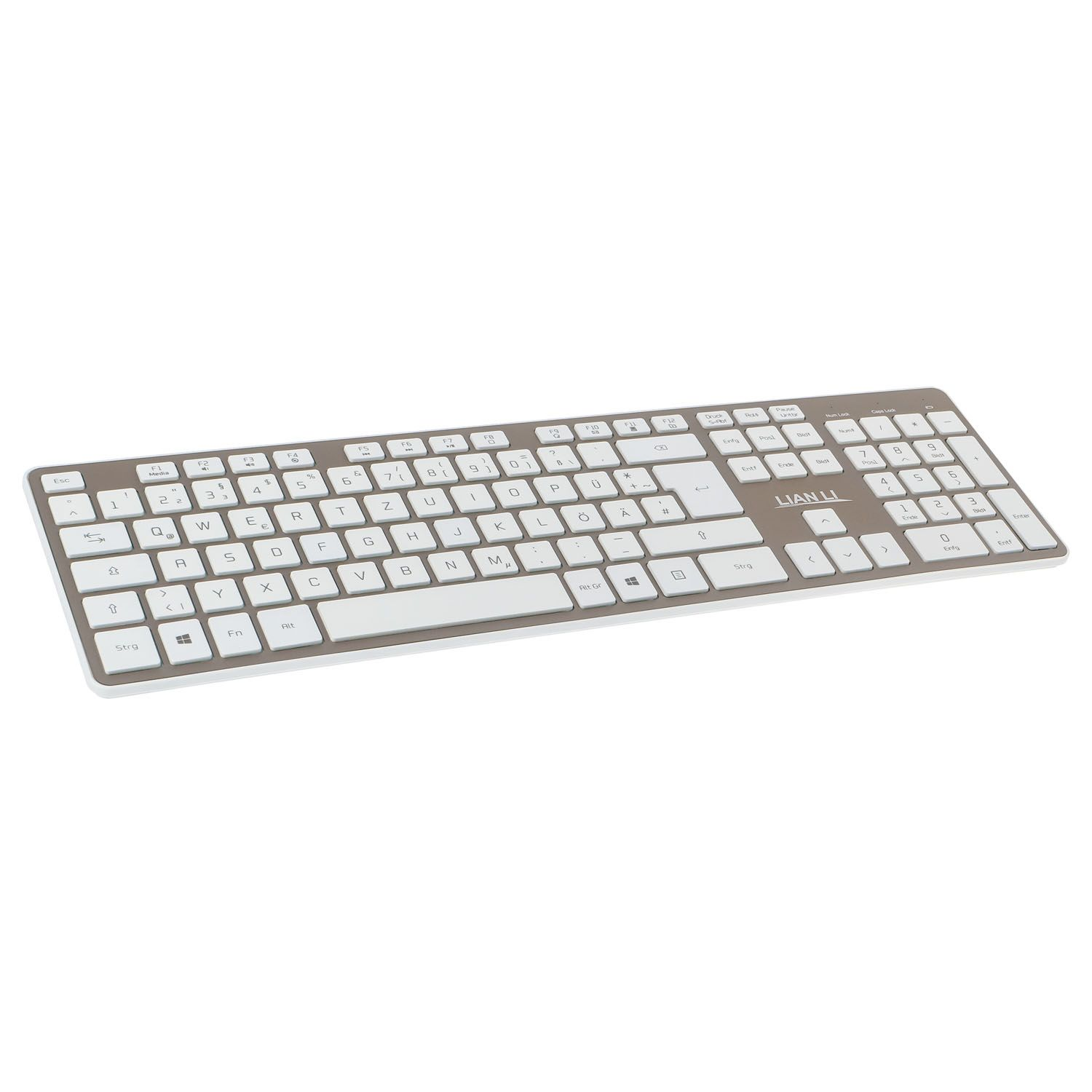 LIAN-LI KB-01W-GD BLUETOOTH KEYBOARD - GOLD KB-01WGD (UK)