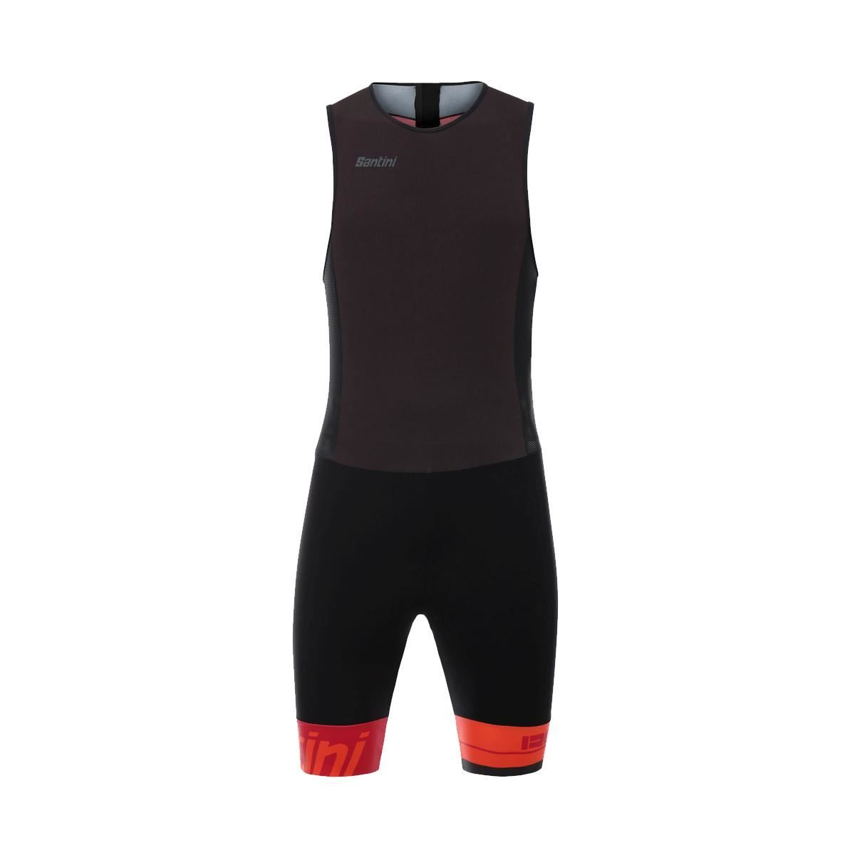 Santini Redux Sleeveless Trisuit Gtr Pad 2018: Red Xl