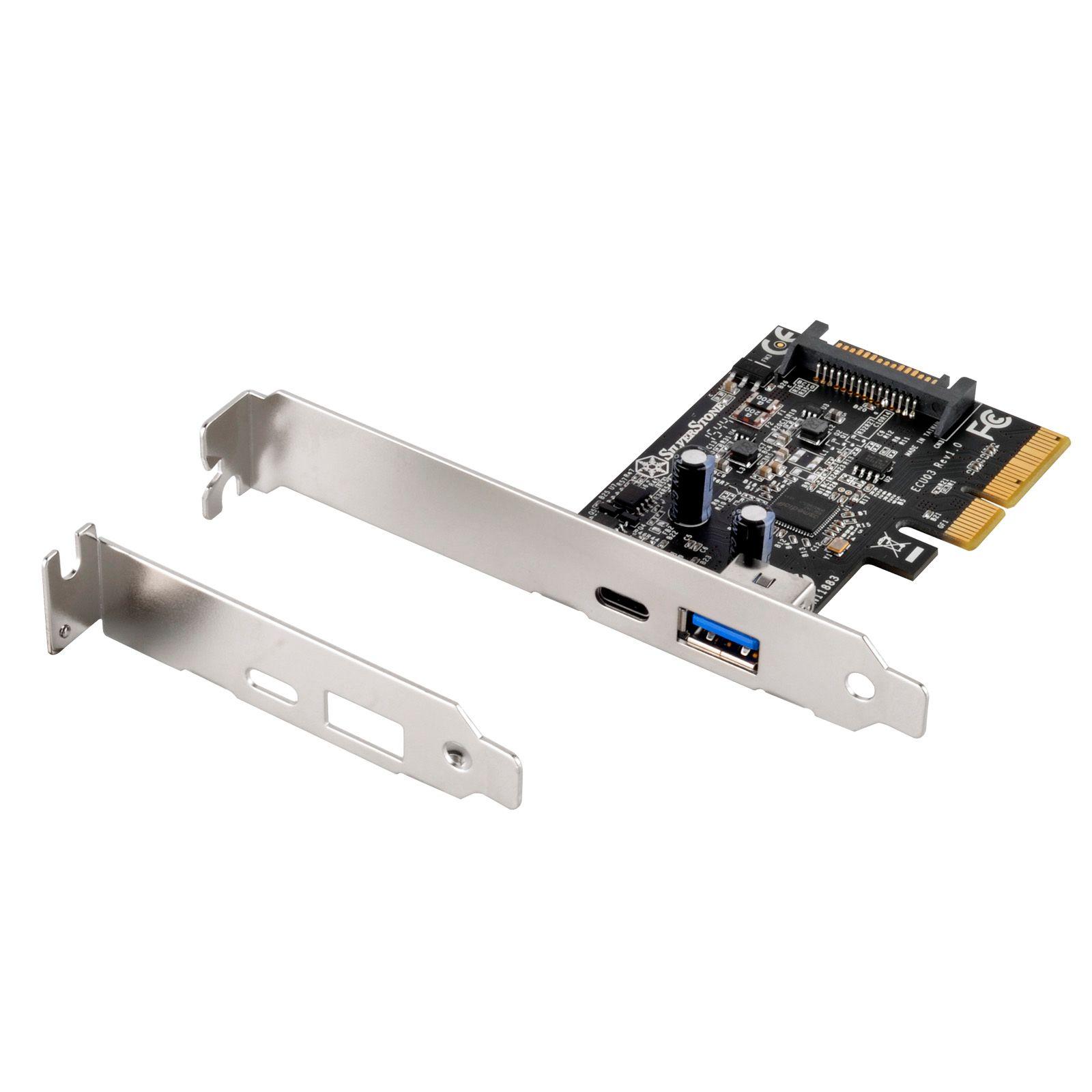 SILVERSTONE 2 PORT USB3.1 GEN2 PCIE EXPANSION CARD SST-ECU03