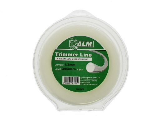 Trimmer Line: 1.3mm 305m White Round Cutting Line
