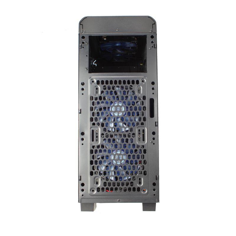 KOLINK VAULT MIDI TOWER GAMING CASE - BLACK/GREEN LED VAULT G