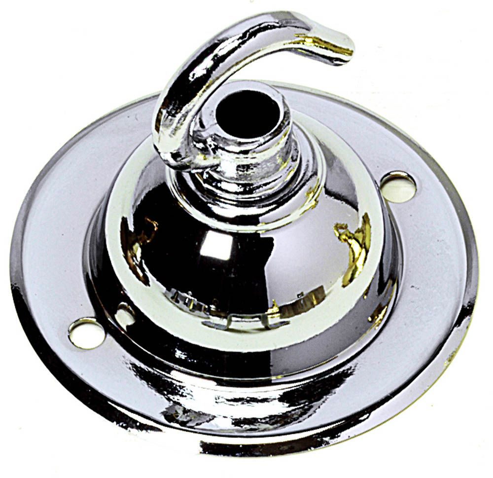 Ceiling Hook-plate Chrome 2.5 inch diameter L2C30.05063