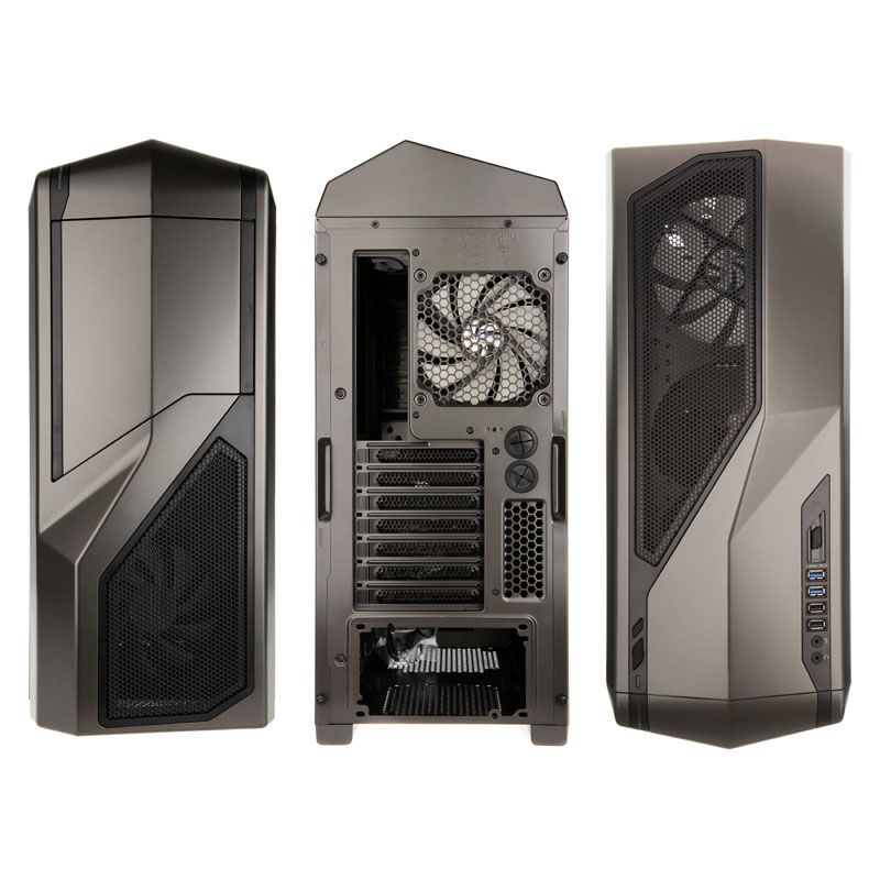 NZXT PHANTOM 410 ENTHUSIAST MIDI TOWER CASE - GUN METAL CA-PH410-G1