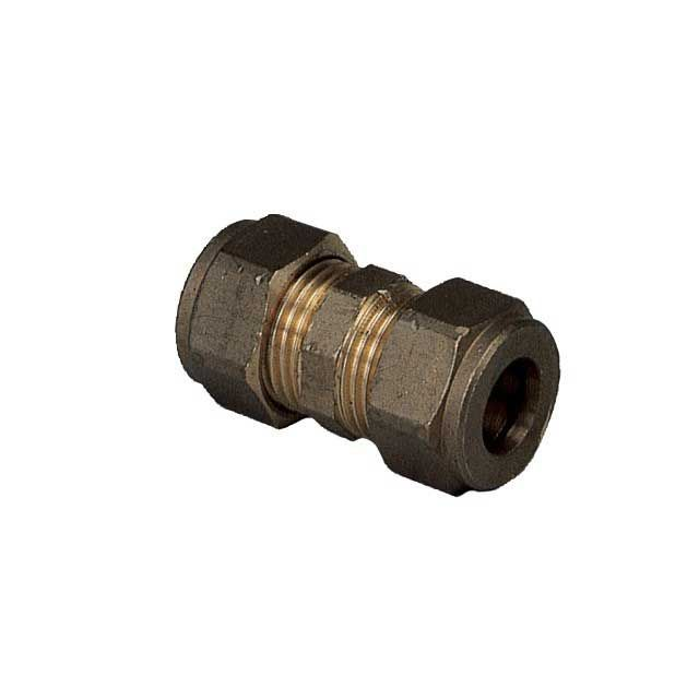 BRASS EQUAL STRAIGHT COUPLING - 10MM O/D A6315