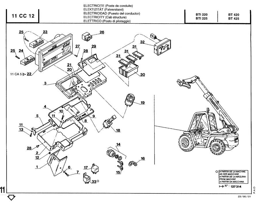 Manitou Forklift BT420 Protection Cover (Item#1)