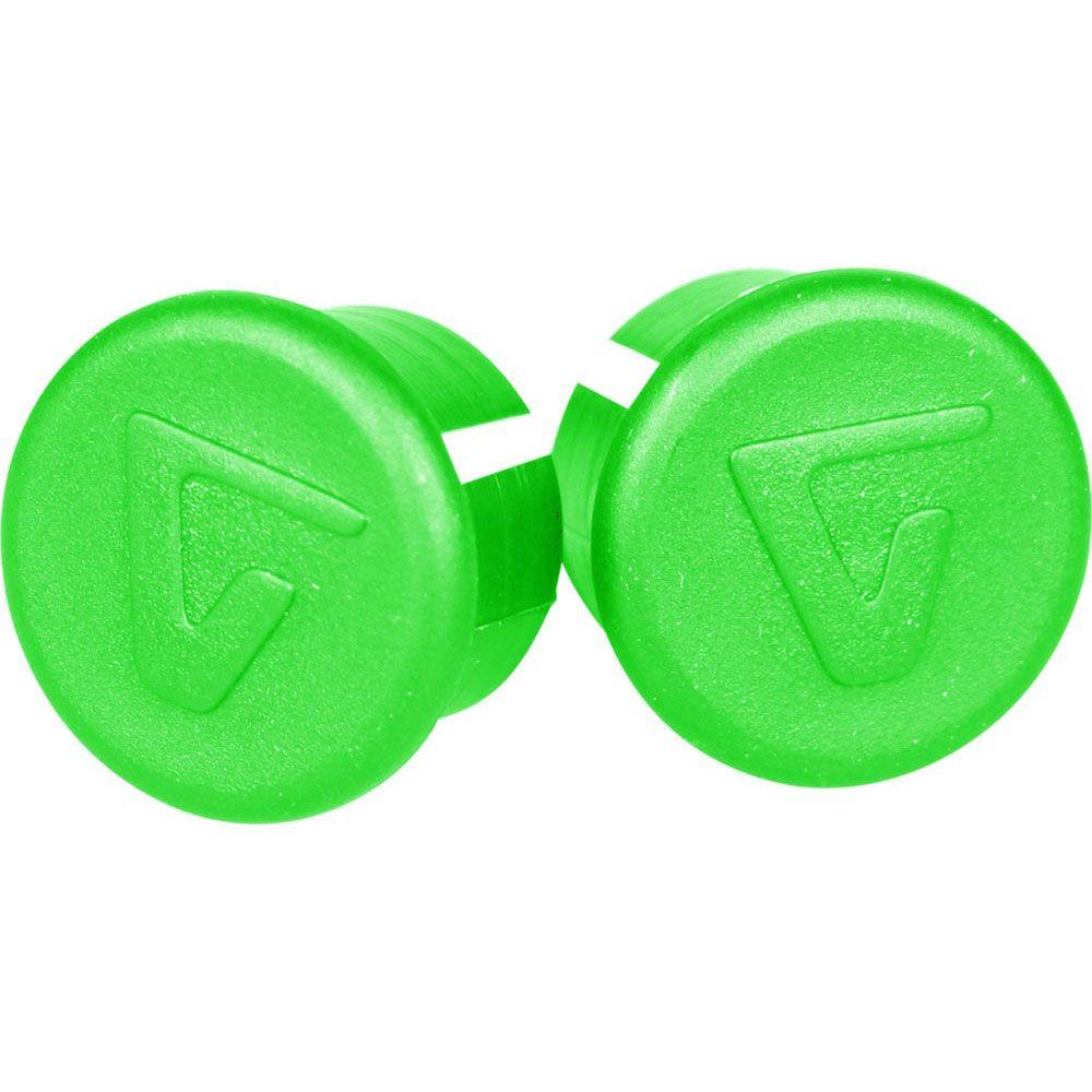 VELOX BAR END PLUGS ACID GREEN X10 VTB006GA