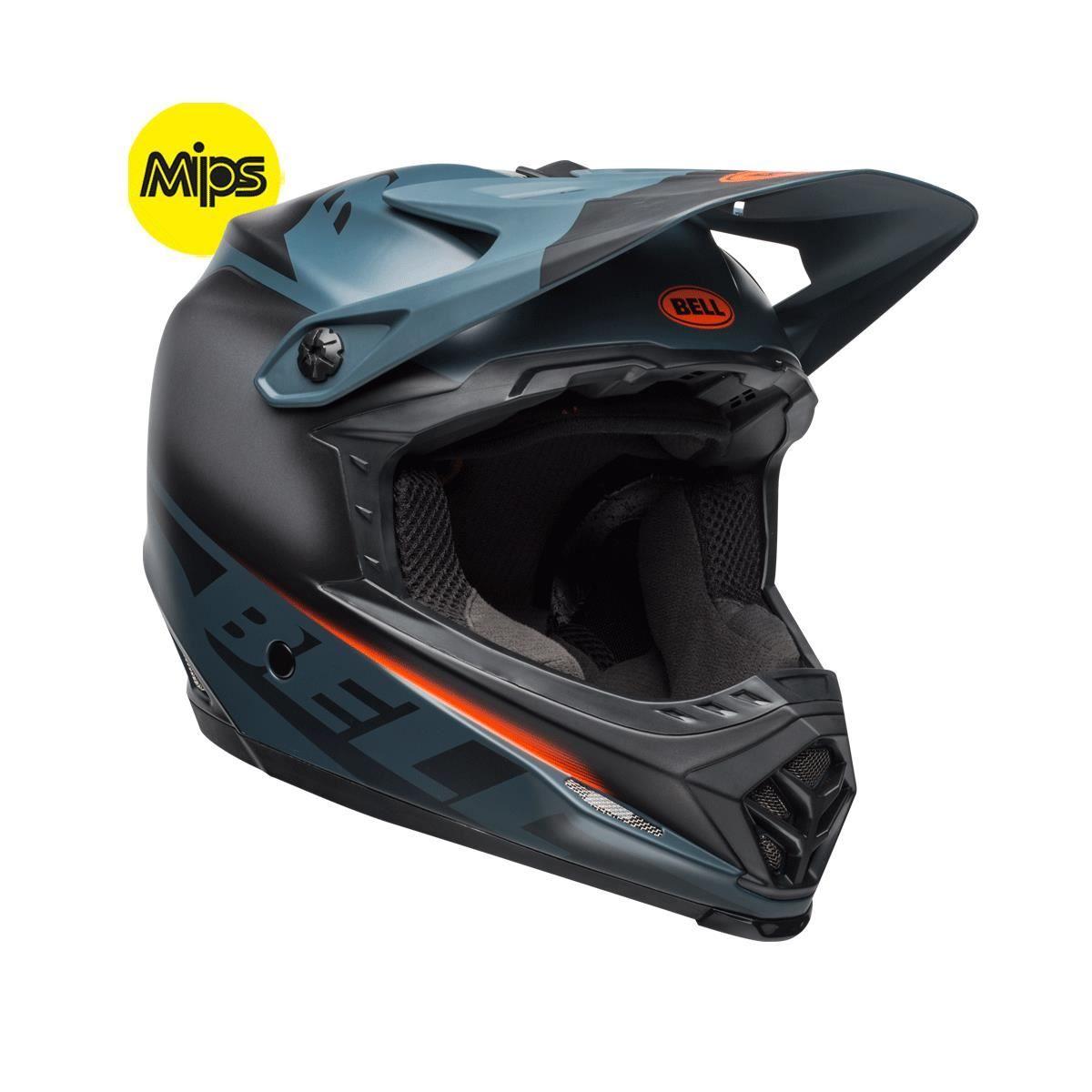 Bell Full-9 Fusion Mips Mtb Full Face Helmet 2019: Matte Black/Slate/Orange Xs 51-53Cm