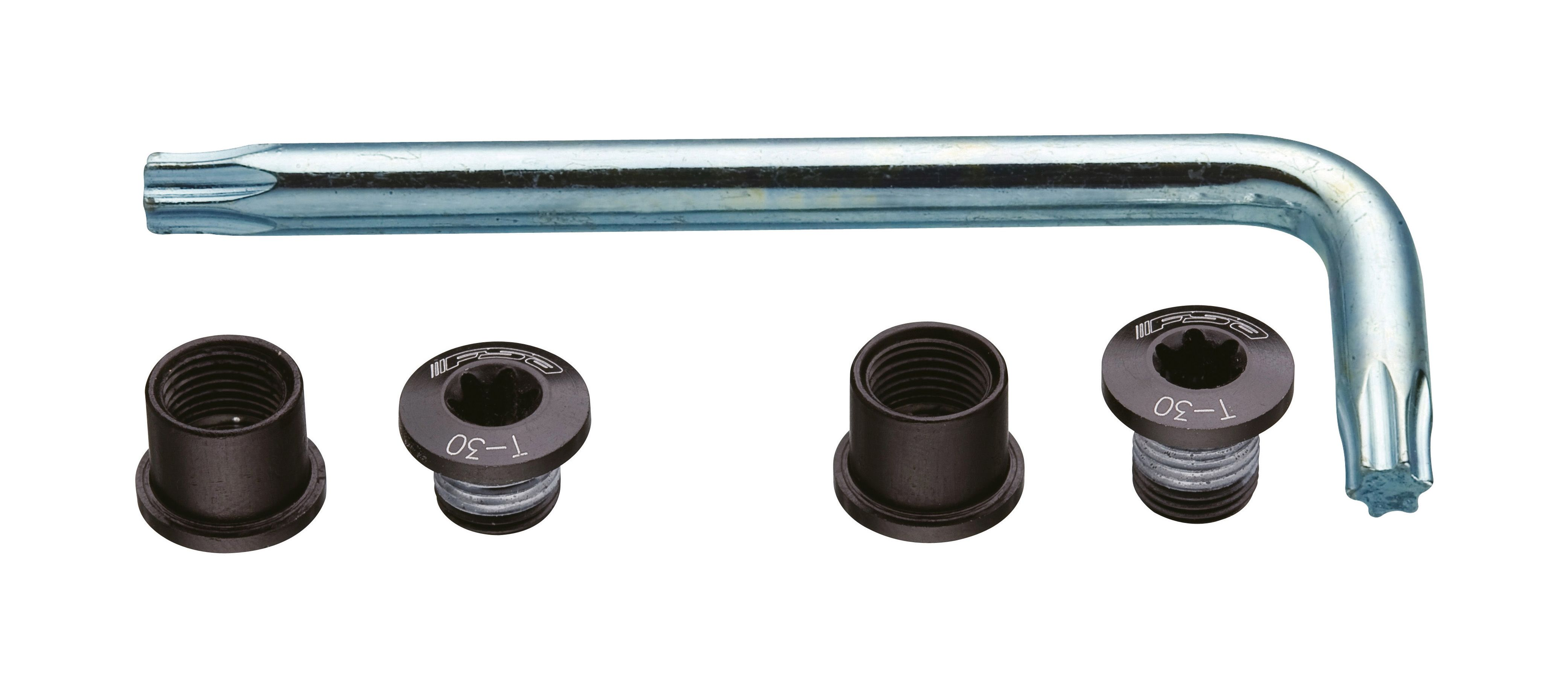 FSA CHAINRING BOLT KIT FOR ROAD DOUBLE (-10, BLACK) 3901005