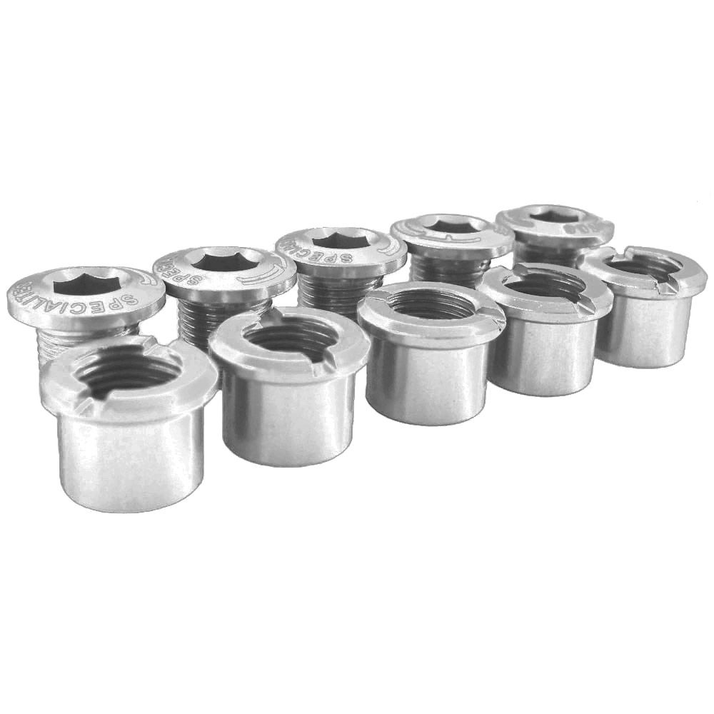 SPECIALITES TA ALLOY DOUBLE C/RING BOLTS SILVER (5)