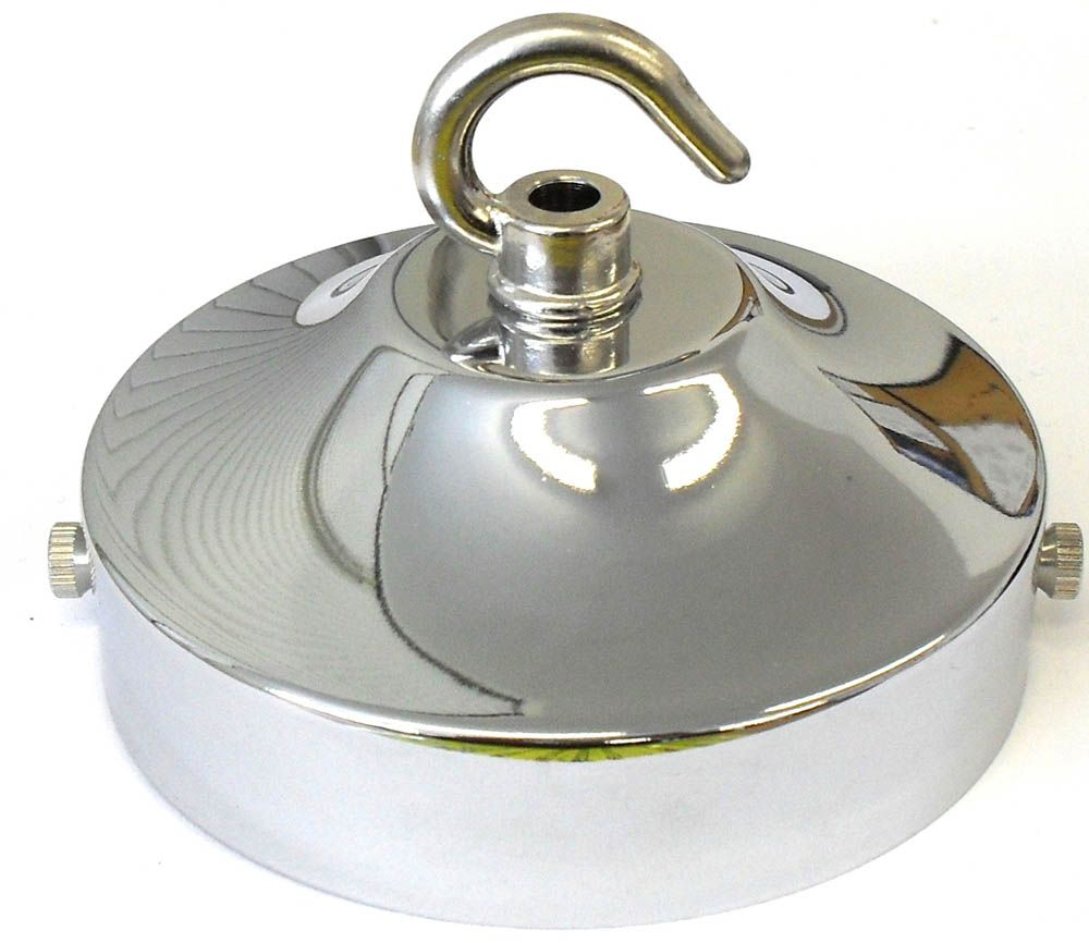 Ceiling Hook-plate Large Polished Nickel 4.25 inch L2C30.05473