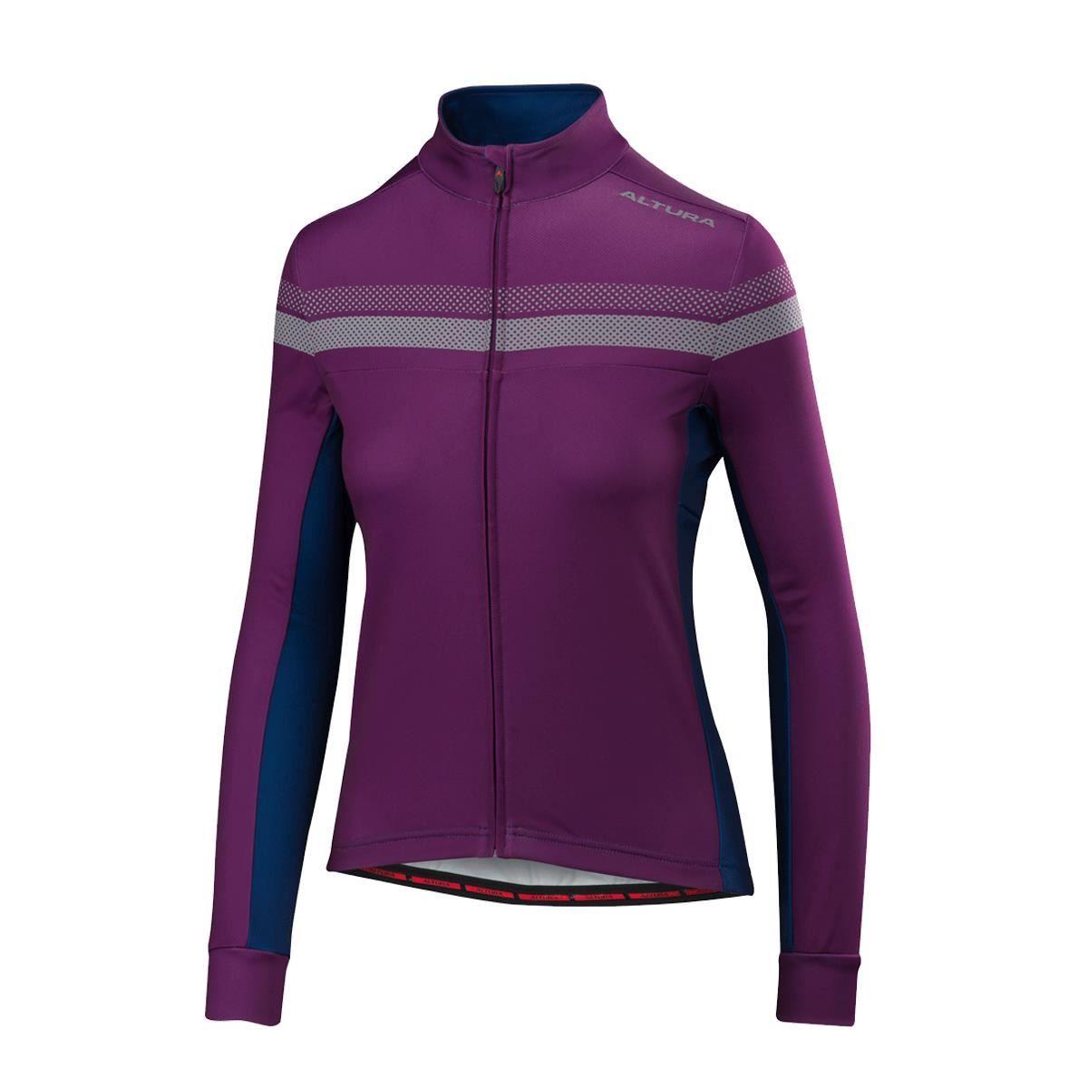 Altura Womens Nightvision 4 Long Sleeve Jersey 2018: Purple/Blue 12