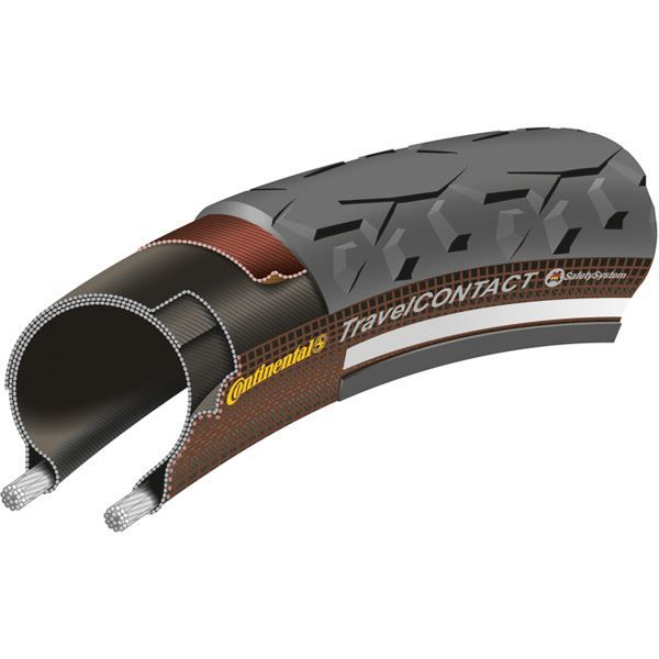 "Continental Travel Contact Reflex 28 x 2.0"" Black Tyre"