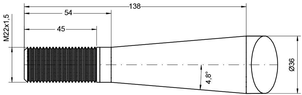 ALO QUICKE TINE-CURVED 680MM M22 CONUS1 21515