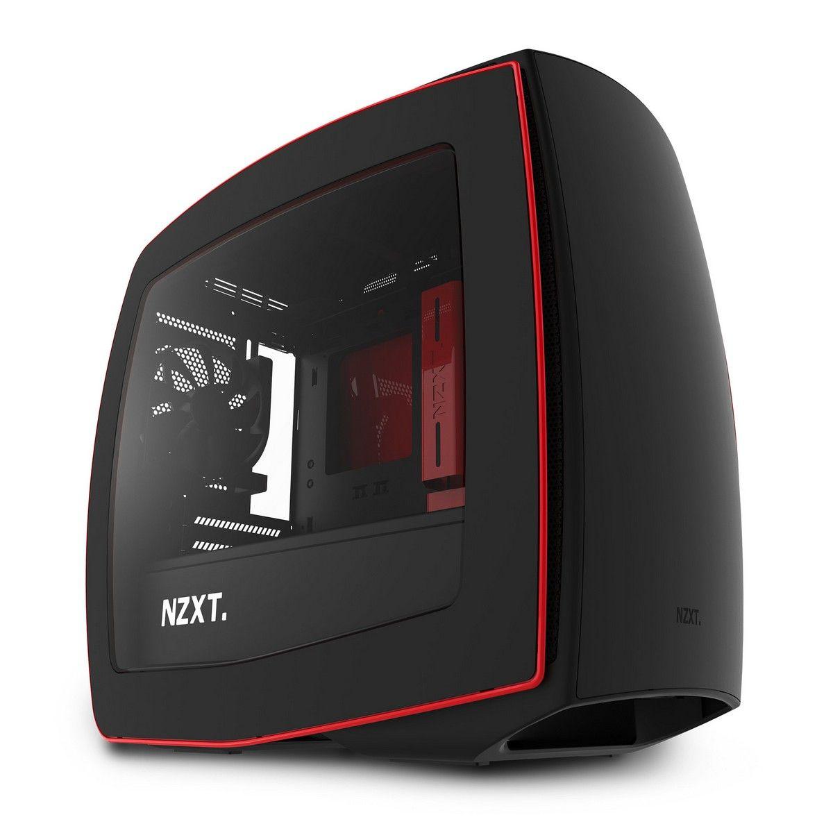 NZXT MANTA MINI-ITX CASE - BLACK/RED WINDOW