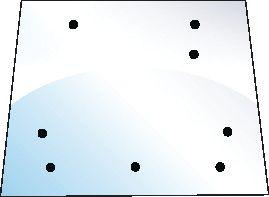MASSEY FERGUSON GLASS-REAR-UPPER-8 HOLES