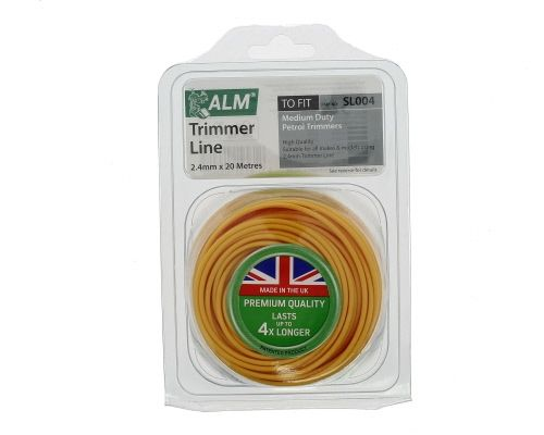 Trimmer Line: 2.4mm 20m Yellow Round Cutting Line